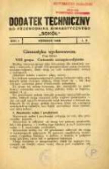 """Dodatek Techniczny do Przewodnika Gimnastycznego """"Sokół"""" 1925.09 R.1 L.9"""