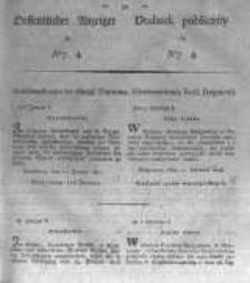 Oeffentlicher Anzeiger zum Amtsblatt No.4. der Königl. Preuss. Regierung zu Bromberg. 1827