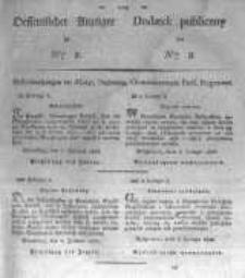 Oeffentlicher Anzeiger zum Amtsblatt No.8. der Königl. Preuss. Regierung zu Bromberg. 1827