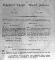 Oeffentlicher Anzeiger zum Amtsblatt No.13. der Königl. Preuss. Regierung zu Bromberg. 1827
