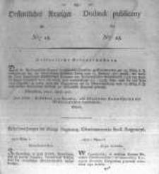 Oeffentlicher Anzeiger zum Amtsblatt No.15. der Königl. Preuss. Regierung zu Bromberg. 1827