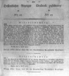 Oeffentlicher Anzeiger zum Amtsblatt No.17. der Königl. Preuss. Regierung zu Bromberg. 1827
