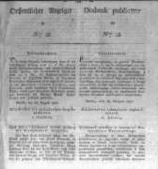 Oeffentlicher Anzeiger zum Amtsblatt No.38. der Königl. Preuss. Regierung zu Bromberg. 1827