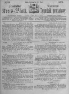 Fraustädter Kreisblatt. 1876.07.21 Nr29
