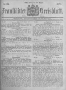 Fraustädter Kreisblatt. 1877.08.24 Nr34