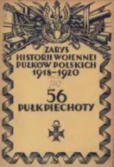 Zarys historji wojennej 56-go Pułku Piechoty Wielkopolskiej