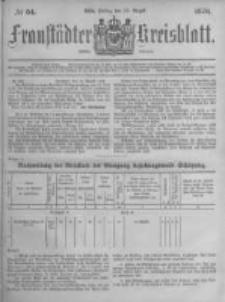 Fraustädter Kreisblatt. 1878.08.23 Nr34