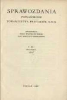 Sprawozdania Poznańskiego Towarzystwa Przyjaciół Nauk. 1957 R.21