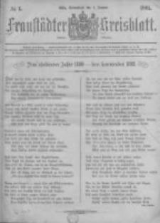 Fraustädter Kreisblatt. 1881.01.01 Nr1