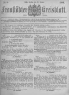 Fraustädter Kreisblatt. 1881.01.28 Nr5