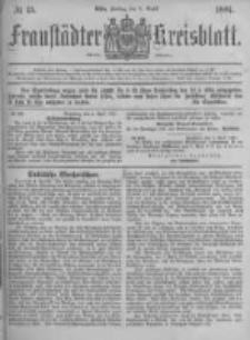 Fraustädter Kreisblatt. 1881.04.08 Nr15