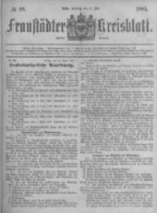 Fraustädter Kreisblatt. 1881.07.08 Nr28