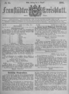 Fraustädter Kreisblatt. 1881.08.05 Nr32