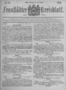 Fraustädter Kreisblatt. 1881.08.12 Nr33