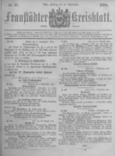 Fraustädter Kreisblatt. 1881.09.16 Nr38