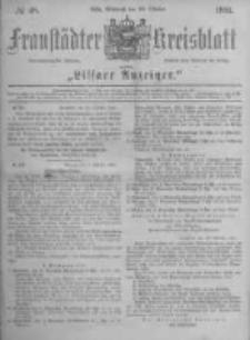 Fraustädter Kreisblatt. 1881.10.26 Nr48