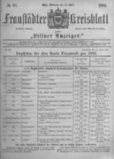 Fraustädter Kreisblatt. 1882.04.26 Nr33