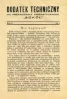 """Dodatek Techniczny do Przewodnika Gimnastycznego """"Sokół"""" 1929 R.5 Nr1"""