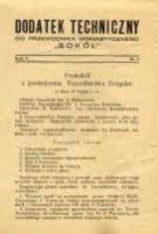"""Dodatek Techniczny do Przewodnika Gimnastycznego """"Sokół"""" 1929 R.5 Nr3"""