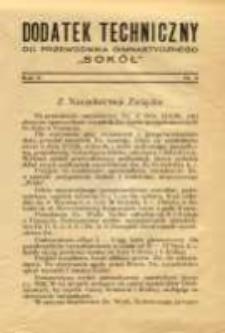 """Dodatek Techniczny do Przewodnika Gimnastycznego """"Sokół"""" 1929 R.5 Nr4"""