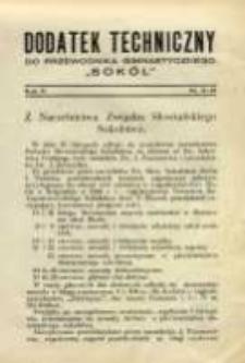 """Dodatek Techniczny do Przewodnika Gimnastycznego """"Sokół"""" 1929 R.5 Nr11/12"""