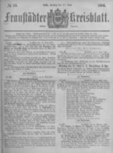 Fraustädter Kreisblatt. 1881.06.17 Nr25