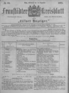 Fraustädter Kreisblatt. 1881.12.14 Nr62