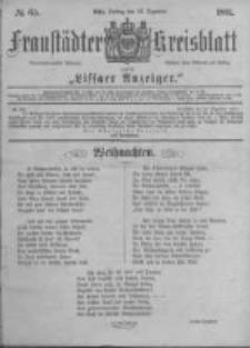 Fraustädter Kreisblatt. 1881.12.23 Nr65