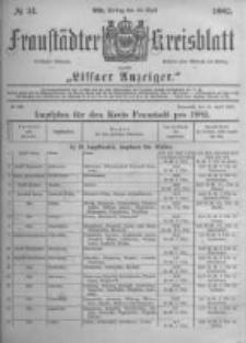 Fraustädter Kreisblatt. 1882.04.28 Nr34