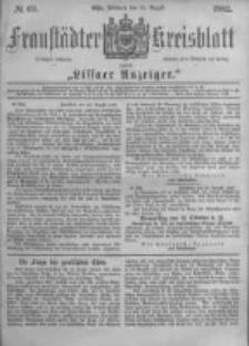 Fraustädter Kreisblatt. 1882.08.30 Nr69