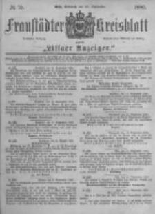 Fraustädter Kreisblatt. 1882.09.20 Nr75