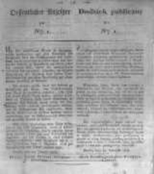 Oeffentlicher Anzeiger zum Amtsblatt No.1. der Königl. Preuss. Regierung zu Bromberg. 1834
