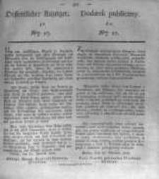Oeffentlicher Anzeiger zum Amtsblatt No.17. der Königl. Preuss. Regierung zu Bromberg. 1835