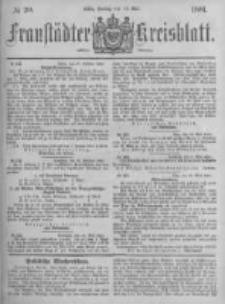Fraustädter Kreisblatt. 1881.05.13 Nr20