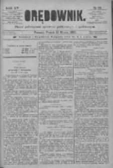 Orędownik: pismo poświęcone sprawom politycznym i spółecznym 1885.03.13 R.15 Nr59