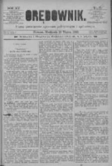 Orędownik: pismo poświęcone sprawom politycznym i spółecznym 1885.03.15 R.15 Nr61