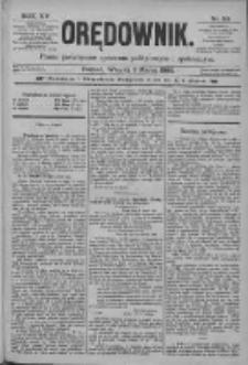 Orędownik: pismo poświęcone sprawom politycznym i spółecznym 1885.03.03 R.15 Nr50