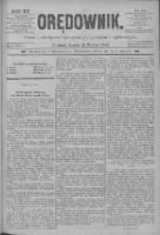Orędownik: pismo poświęcone sprawom politycznym i spółecznym 1885.03.11 R.15 Nr57