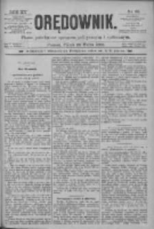 Orędownik: pismo poświęcone sprawom politycznym i spółecznym 1885.03.20 R.15 Nr65