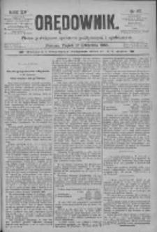 Orędownik: pismo poświęcone sprawom politycznym i spółecznym 1885.04.17 R.15 Nr87