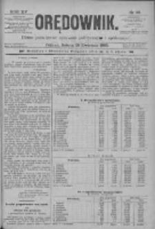 Orędownik: pismo poświęcone sprawom politycznym i spółecznym 1885.04.18 R.15 Nr88