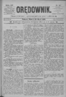 Orędownik: pismo poświęcone sprawom politycznym i spółecznym 1885.05.30 R.15 Nr121