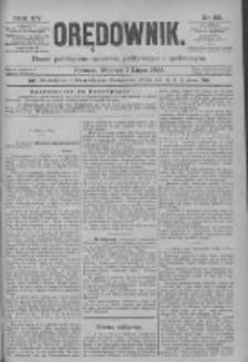 Orędownik: pismo poświęcone sprawom politycznym i spółecznym 1885.07.07 R.15 Nr151