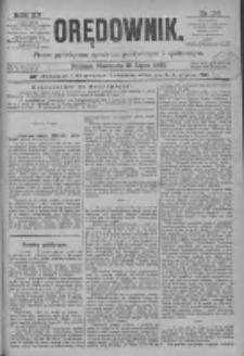Orędownik: pismo poświęcone sprawom politycznym i spółecznym 1885.07.12 R.15 Nr156