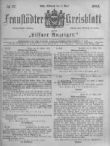 Fraustädter Kreisblatt. 1883.04.04 Nr27