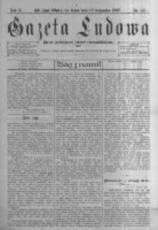 Gazeta Ludowa: pismo poświęcone ludowi ewangielickiemu. 1897.11.10 R.2 nr88