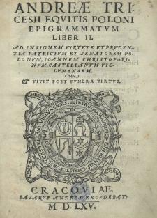 Epigrammatvm Liber II