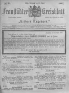 Fraustädter Kreisblatt. 1883.04.25 Nr33