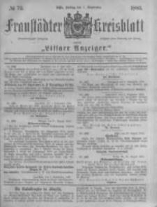 Fraustädter Kreisblatt. 1883.09.07 Nr72
