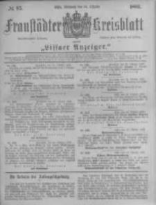 Fraustädter Kreisblatt. 1883.10.24 Nr85
